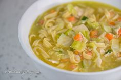 Chicken Lomi is a type of Filipino chicken noodle soup. Compared to traditional chicken soup, the broth for this particular soup version is thicker.