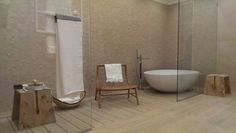 #Wood and #Stone bathroom for #Ragno - Cersaie 2014 bologna