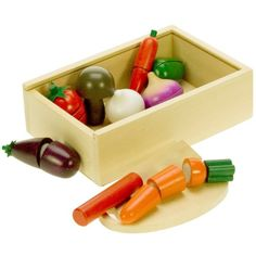 Bigjigs Toys Wooden Play Food Cutting Vegetables for sale online Wooden Play Food, Wooden Baby Toys, Wooden Puzzles, Wooden Boxes, Toys For Boys, Kids Toys, Phil And Teds, Done By Deer, Plan Toys