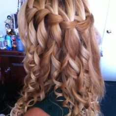 bridesmaids, colors, long hair, prom hair, curls