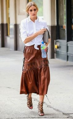 The Olivia Palermo Lookbook : Olivia Palermo spotted out and about in New York C...