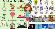 Outdoor Activities Vocabulary in English 12