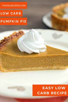 This perfect, Crustless Pumpkin Pie makes a lovely low carb and keto friendly pumpkin pie in your Instant Pot or Pressure cooker. This is an easy dump and go dessert that will be a healthy addition to your holiday table! Gluten Free Pumpkin Pie, Low Carb Pumpkin Pie, Pumpkin Pie Recipes, Low Carb Pie Recipe, Low Carb Recipes, Healthy Recipes, Low Carb Desserts, Sugar Free Desserts, Keto Dessert Easy
