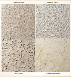 Stucco textures.