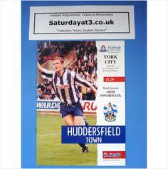 Huddersfield Town v York City Football Programme 21/01/1995 League Division 2