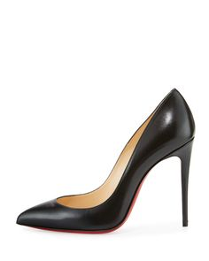 3dd96d990034 Christian Louboutin Pigalle Follies Leather 100mm Red Sole Pump