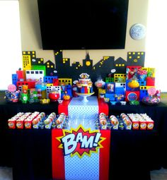 SuperHero Pop Art Comic Birthday Party Ideas