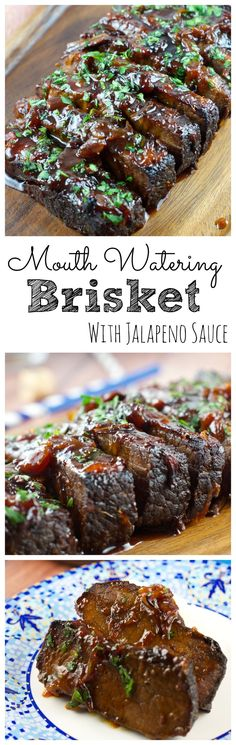Jalapeño Brisket Recipe - This melt in your mouth Brisket is sweet with just a hint of heat. The beef just melts in your mouth