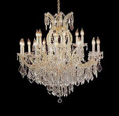 16-Lights LED Candle-Style Chandelier