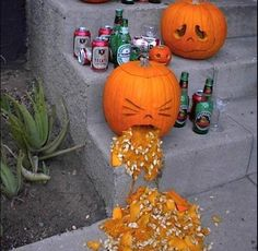 Party pumpkin couldn't hold it in.