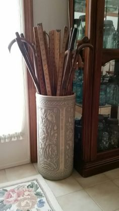 Antique umbrella stand.