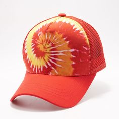 6985e9fafeb535 Buy Wholesale Blank Hats at Pit Bull Hats Online Shop. Pit Bull Red Pattern  Tie Dye Curved Visor Trucker Hats Caps Wholesale and Custom Embroidery.