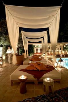 Malabar Poolside at Margi Hotel in Athens . this looks like a place I've been to before in Athens. Backyard Shade, Patio Shade, Backyard Cabana, Pool Cabana, Pergola Shade, Outdoor Rooms, Outdoor Gardens, Outdoor Living, Outdoor Curtains For Patio