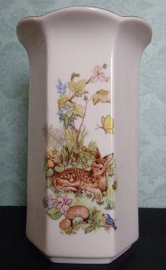 Bone China Happy Bambi Vase