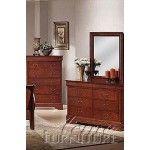 $609.00  Acme Furniture - Louis Philippe Ii Dresser With Mirror - 9804B-9805B