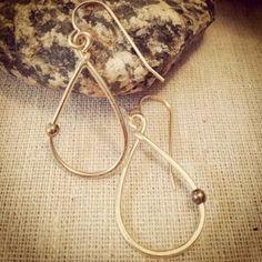 SMALL TEARDROP DOT EARRINGS // $32 14kt gold fill. Handmade. @shopisabelle.com