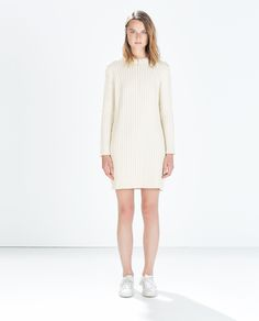 ZARA - NEW THIS WEEK - LONG-SLEEVED CABLE-KNIT DRESS