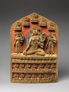 White Tara, Accompanied by Twenty-One Emanations, 14th century. Tibet.