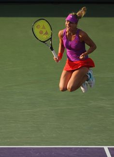 Maria Kirilenko jumps for joy after winning the SONY Ericsson doubles title. Great Shot!