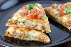 Chorizo sausage is great in a quesadilla. These quesadillas combine chorizo with pepper jack cheese and green onions. The quesadillas are cooked in.