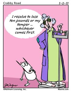 Maxine on dieting