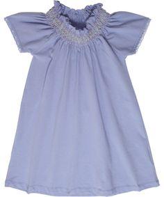 Mini A Ture lavender dress with smock details. mini-a-ture.en.emilea.be