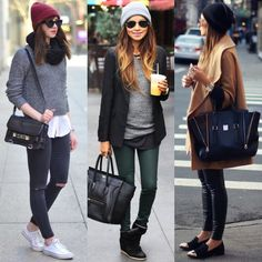 Beanies! Burgundy grey or black? @fashioninmysoul - @sincerelyjules - @weworewhat by streetstyleinspirations
