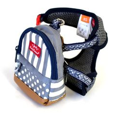 Pets Paradise Pretty bouquet stripe backpack with harness [S] 4,752 yen