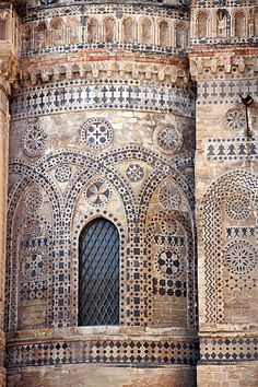 Arabic Palermo. Cathedral of Monreale. Palermo, province of Palermo, Sicily Italy #architecture