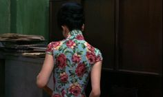 My favorite cheongsam worn by Maggie Cheung in the movie, In the Mood for Love