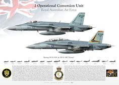 "ROYAL AUSTRALIAN AIR FORCE 2 Operational Conversion Unit AF/A-18A ""Hornet"" 2 OCU RAAF"