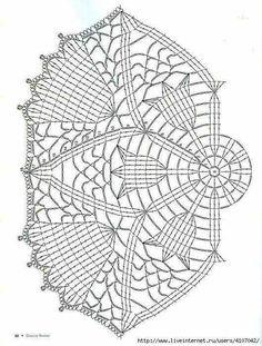 Ideas For Crochet Patrones Ganchillo - Diy Crafts - DIY & Crafts Crochet Dollies, Crochet Art, Thread Crochet, Vintage Crochet, Crochet Flowers, Crochet Stitches, Crochet Doily Diagram, Crochet Edging Patterns, Crochet Motif