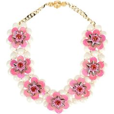 Shourouk Necklace (37,875 THB) ❤ liked on Polyvore featuring jewelry, necklaces, accessories, pink, shourouk necklace, sequin jewelry, shourouk jewelry, pink necklace and shourouk