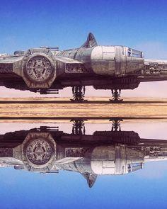 Spectacular Millennium Falcon Illustration By Paul Johnson