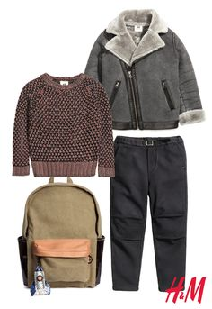 Lightweight bomber jackets in versatile neutrals are Fall must-haves for big & little ones alike. Layer over their favorite sweater or t-shirt for a grown-up look, or click through for more ideas from H&M.