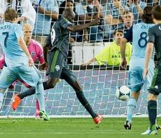 Djimi Traore's winning goal in the 94th minute gave Seattle a stunning 1-0 victory at Kansas City. (Photo by David Eulitt / Kansas City Star)