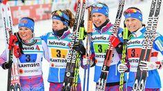Krista Pärmäkoski, Laura Mononen, Kerttu Niskanen ja Aino-Kaisa Saarinen saavuttivat viestissä MM-pronssia torstaina.