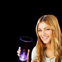 Promotional 14 oz Light-Up Drink Pilsner | Customized 14 oz Light-Up Drink Pilsner | Promotional Plastic Light-Up Glasses