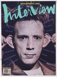 Tibor Kalman cover for interview magazine  Revista diseñada por Andy Warhol