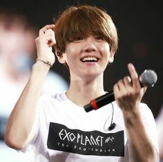 #Baekhyun and his precious smile  Cr: owner