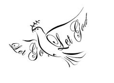 let go let God dove tattoo Tribal Tattoos, Tattoos Skull, New Tattoos, Body Art Tattoos, Tatoos, Cross Tattoos, Dreamcatcher Tattoos, Faith Tattoos, Side Tattoos