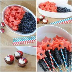 40 Very Easy Fourth of July Crafts and Projects 4th Of July Desserts, Fourth Of July Food, 4th Of July Celebration, 4th Of July Party, 4th Of July Ideas, July 4th, Summer Treats, Holiday Treats, Holiday Recipes