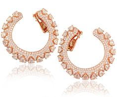 Earrings in rose #gold #EthoMaria #diamonds #EthoMariaTsikiTsiki