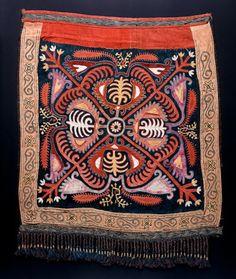 Kirghiz or Uzbek nomads embroidery – Uzbekistan, circa 1900, silk, cotton.