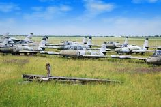 Abandoned: Airplane Graveyards -  Unknown Airplane Graveyard, Possibly Serbia | Photo: Old military fighter jet airplanes image from Bigstock