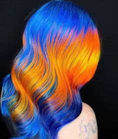 For those who are willing to take the plunge, we gathered the prettiest multicolored neon hair examples to inspire your most dramatic hair makeover. Neon Hair Color, Hair Dye Colors, Pulp Riot Hair Color, Dramatic Hair, Simple Bridesmaid Hair, Fantasy Hair, Permanent Hair Color, Bleached Hair, Hair Looks