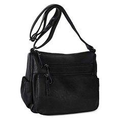 Vegan Leather, Soft Leather, Leather Crossbody, Crossbody Bag, Casual Bags, Cross Body Handbags, Leather Fashion, Purses And Handbags, Black
