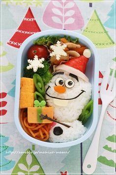 アナ雪 オラフサンタのクリスマス弁当*キャラ弁