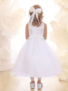 Beautiful Lace Dress with Tulle Skirt