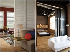 Amazing Use Shutters For Creative/interesting Room Dividers